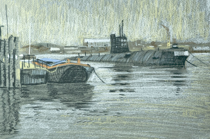 Medway, London, sketch, dawing