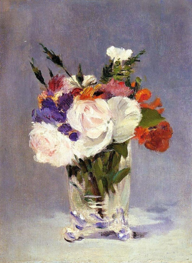 Manet, still life, flowers