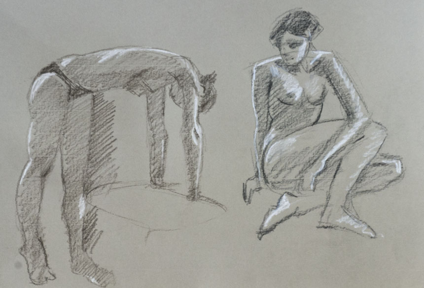 Life drawing, nude, figure