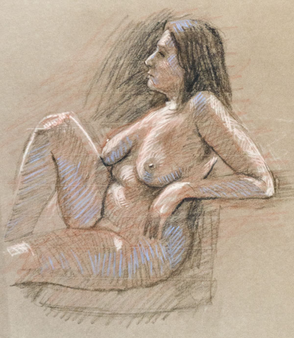 Life drawing. nude, figure