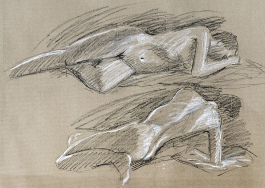 Life drawing, figure, nude