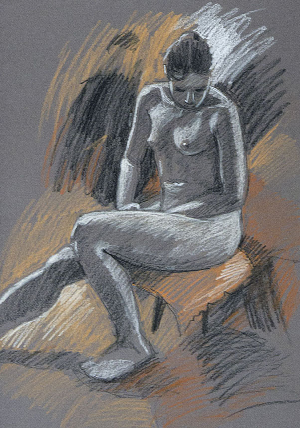 life drawing, figure, nude, Rob Adams