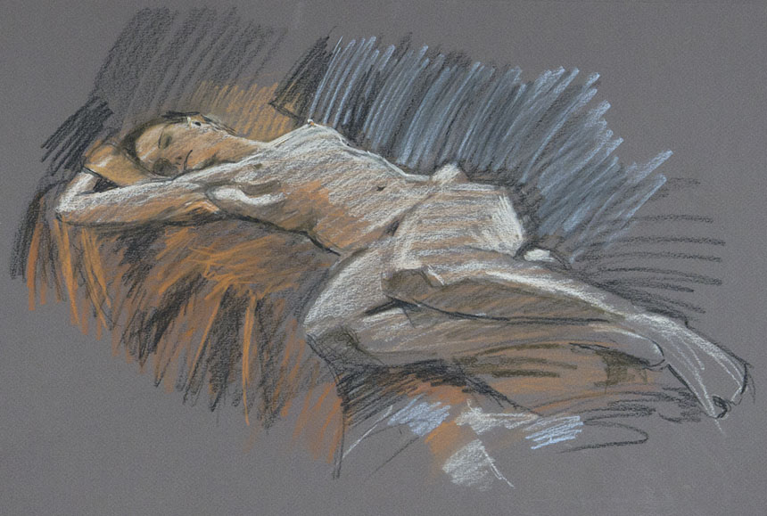 Nude, life drawing, figure, Rob Adams