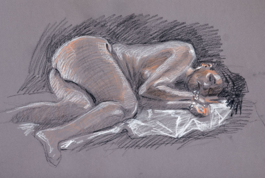 Life drawing, nude, rob adams