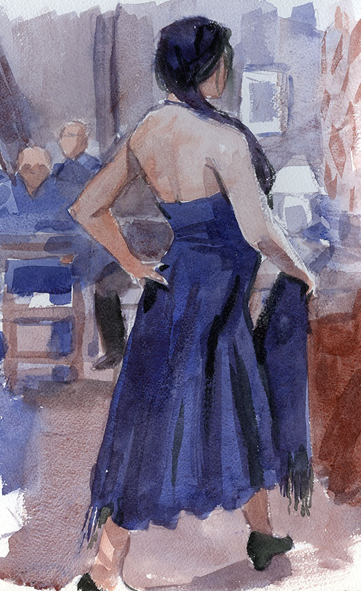 dance, figure, watercolour