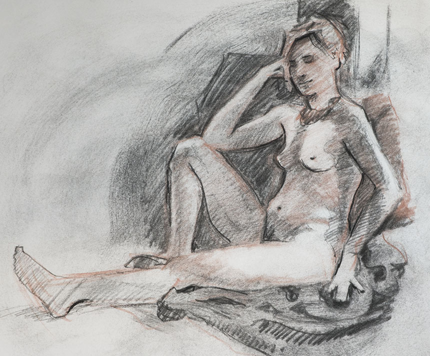 life drawing, nude