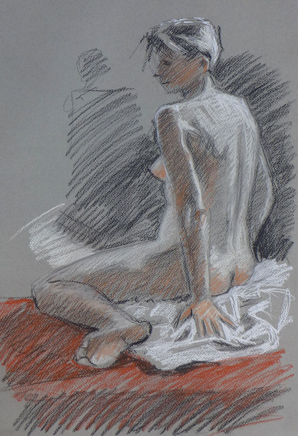 nude, figure drawing