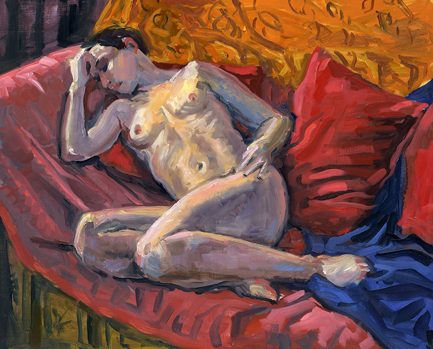 Figure, nude, oil painting