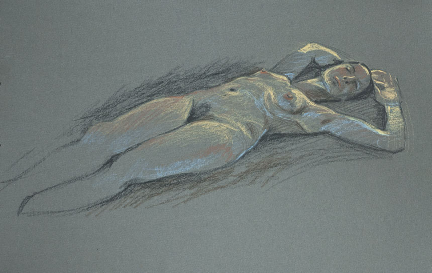 Nude, life, drawing