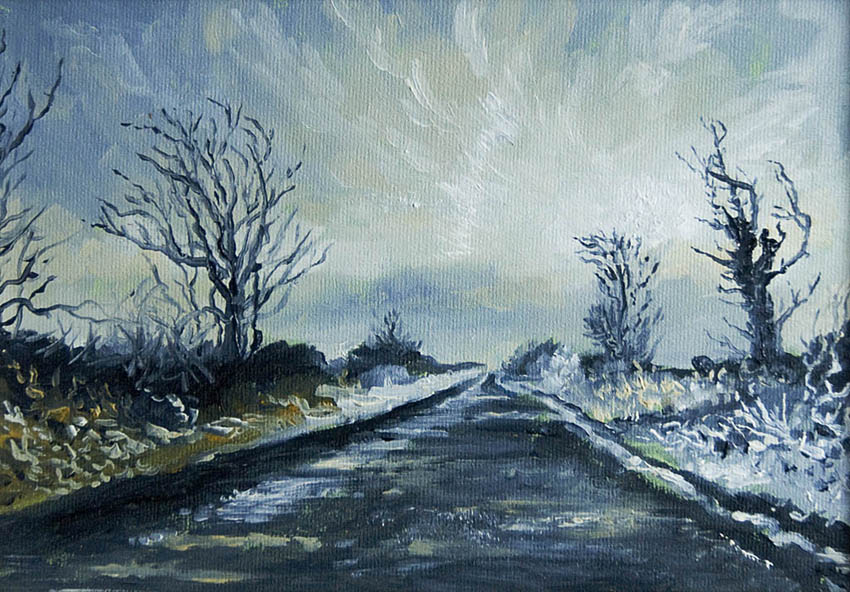 Ice Burren Ireland Painting