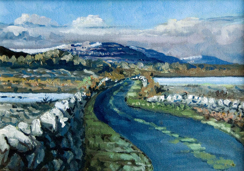 burren ireland road painting