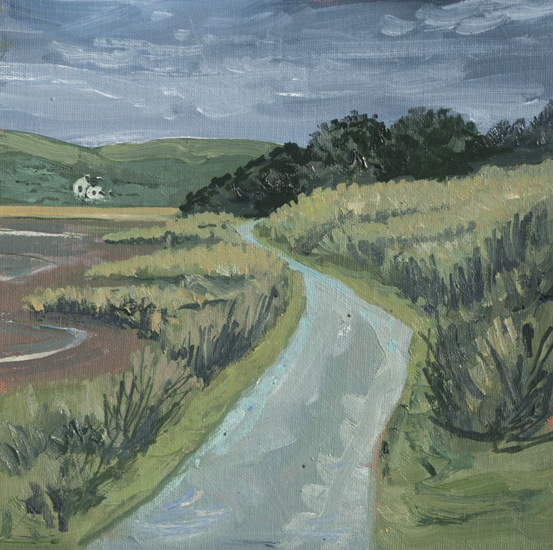 wales path coast paint