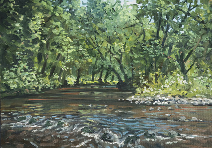 wales nevern river painting