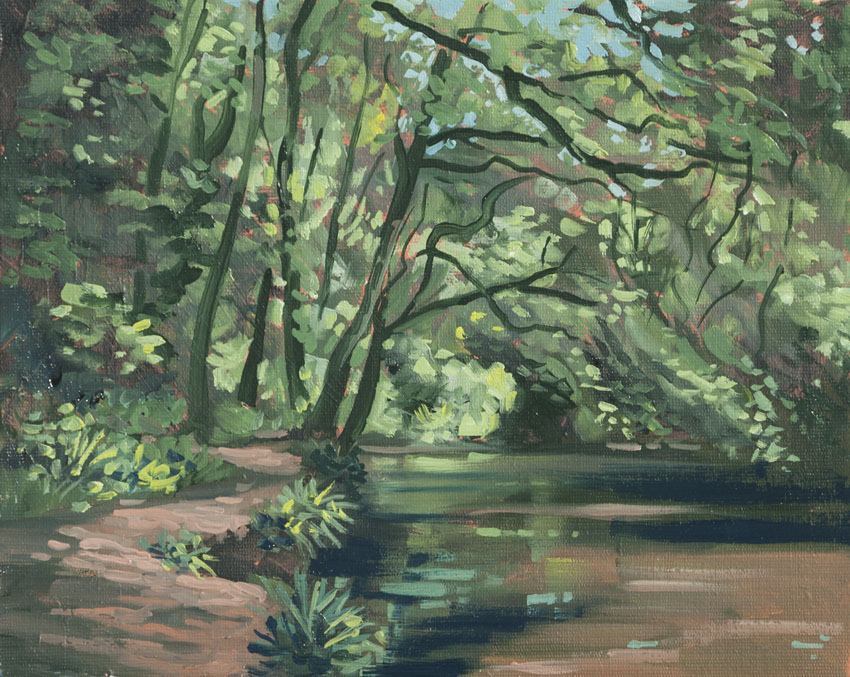 river wales nevern painting