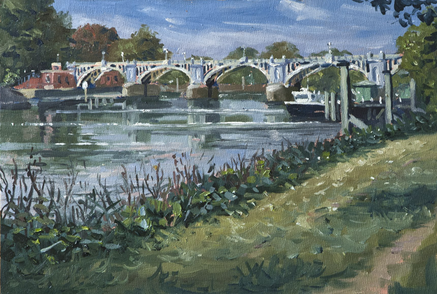 Richmond, Thames, River, Painting, Plein Air, Wapping Group