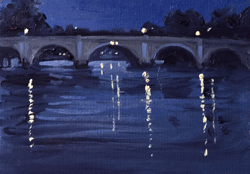Thames. Richmond, River, plein air, painting
