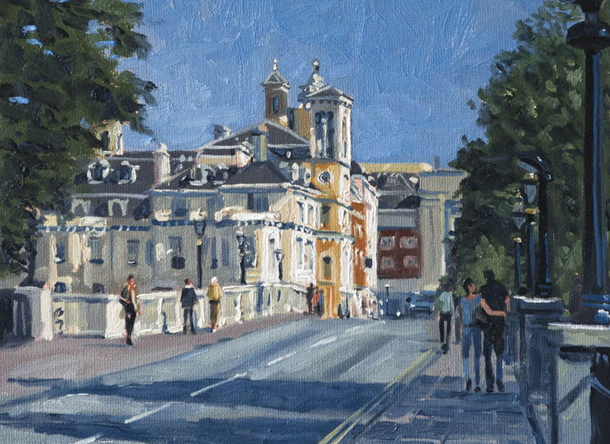 London, Thames, River, Richmond, Plein air, Painting