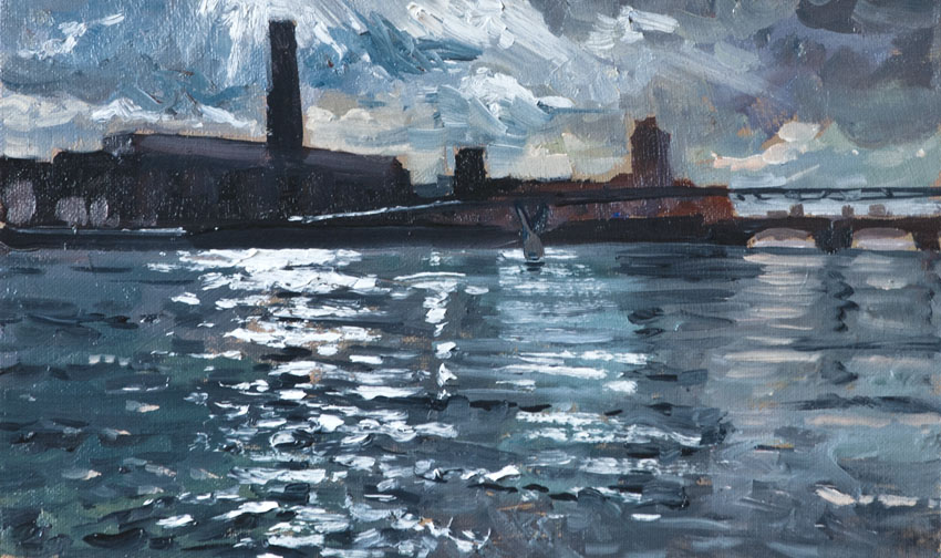 Thames, London, river, painting