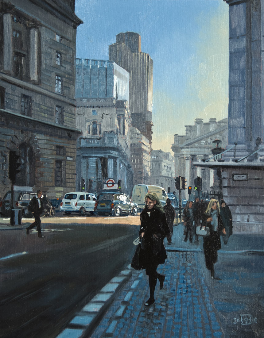 city, london, oil, painting, urban