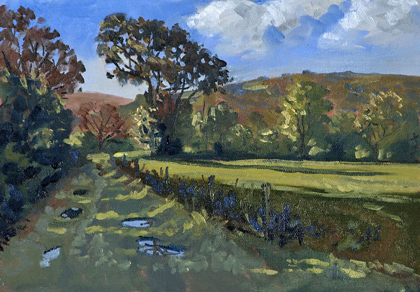 Carningli, Wales, Preseli, painting, oli, plein air, autumn