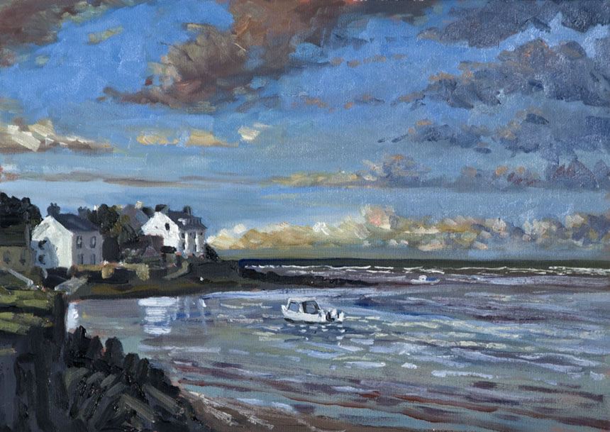 Newport, pembrokeshire, wales, oil, plein air, painting