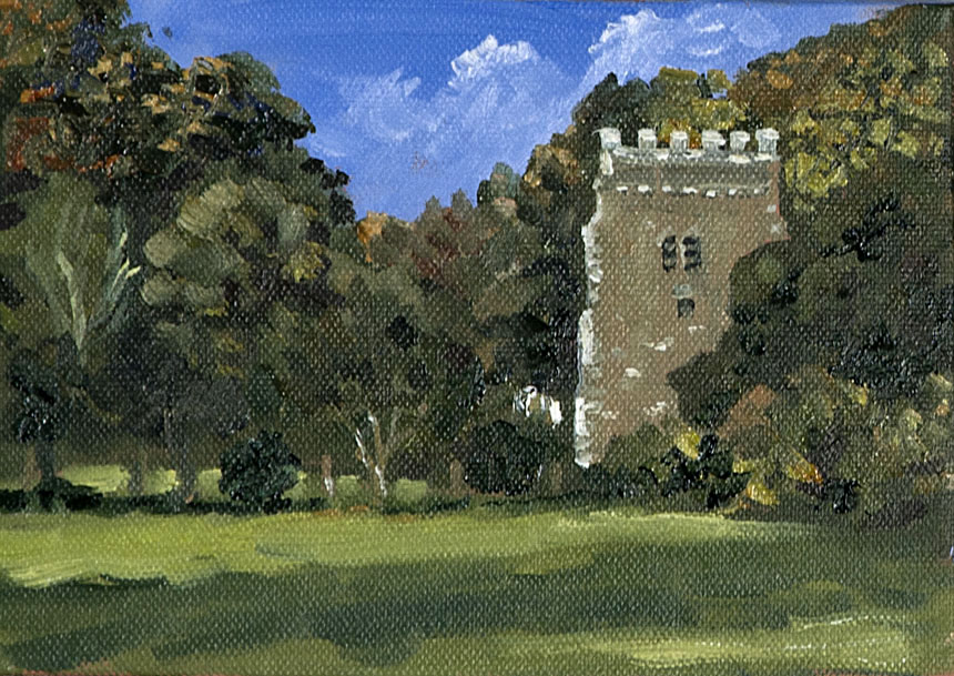 Nevern, church, wales, painting, plein air,