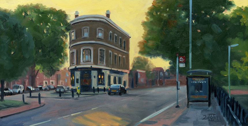 Brookmill Rd, London, Deptford, plein air, oils