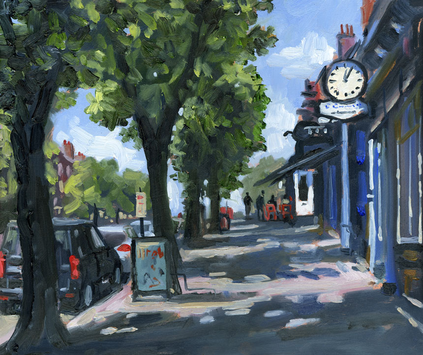 London, plein air, oils, painting, Blackheath
