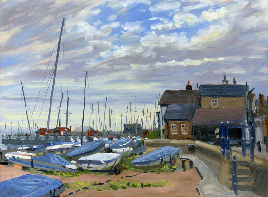 Whitstable, sea, plein air, oil, painting