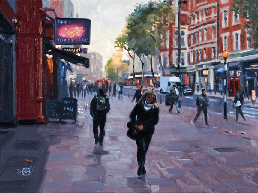 Charing Cross, London oil painting, art