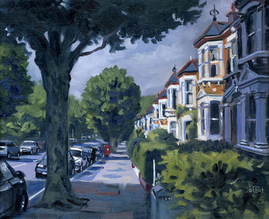 Erlanger, New Cross, London, Plein Air, oil, painting