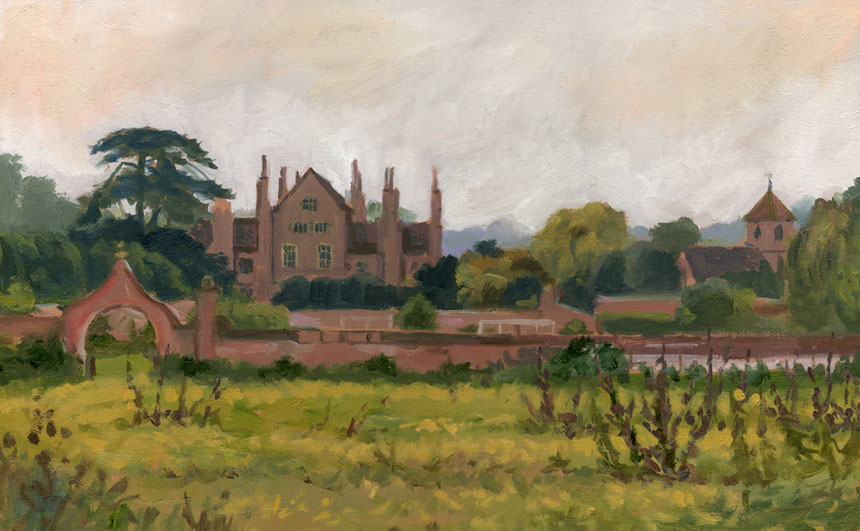 Mapledurham, berkshire, stately home, plein air, painting, oils