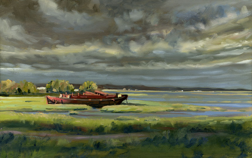 medway, thames, river, marshes, plein air