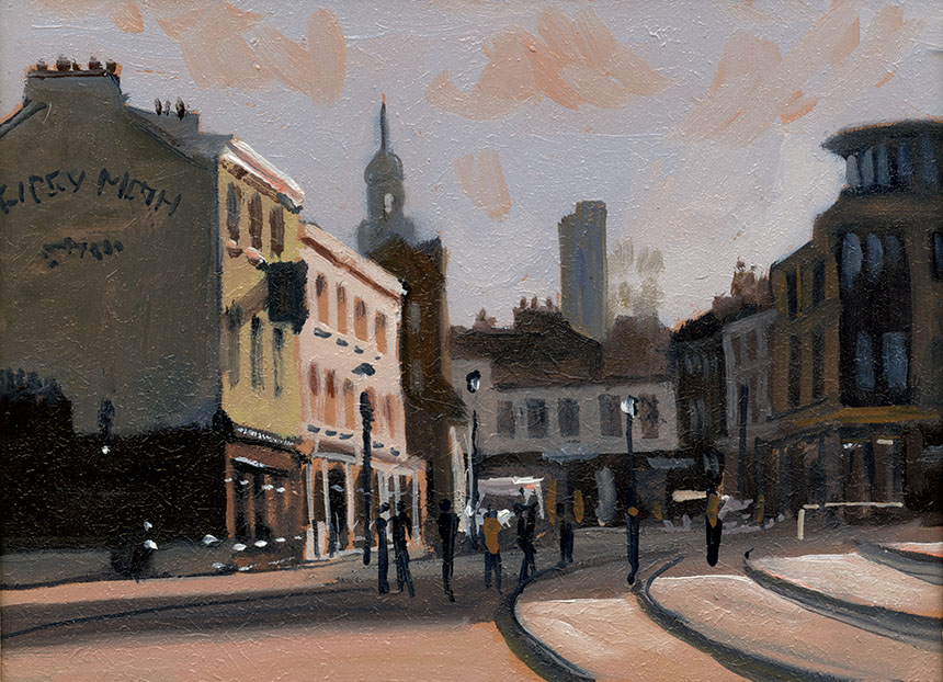 plein air, oil painting, greenwich, london