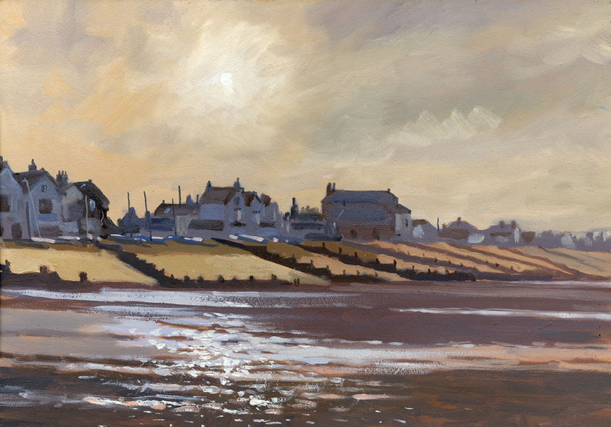 whitstable, sea, oils, painting, plein air, brass monkeys, beach, kent