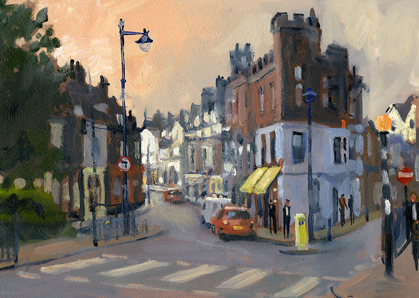 whitstable, kent, street, plein air, oil painting