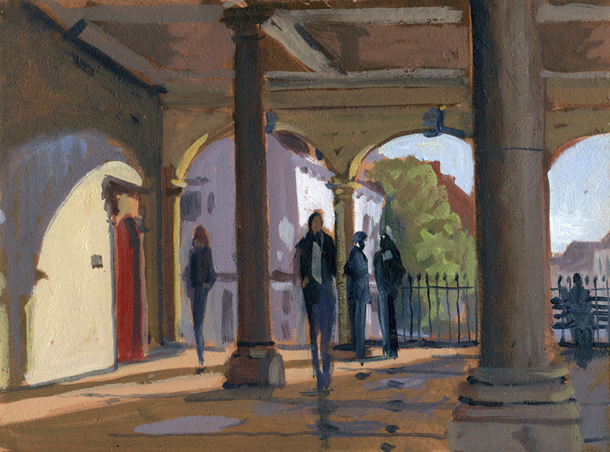 Windsor, plein air, oil painting, town