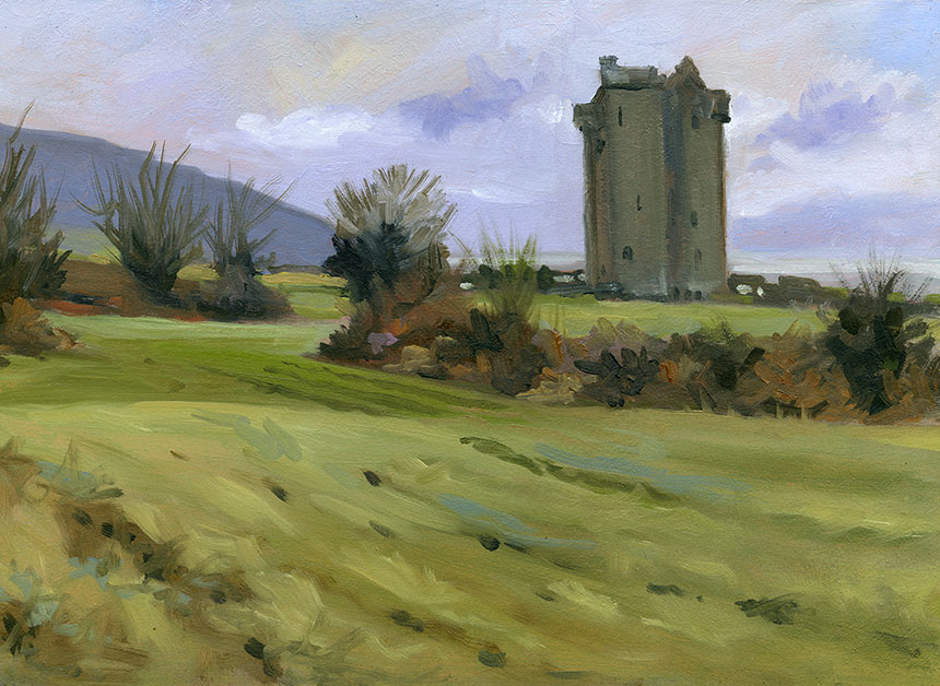Ireland, co clare, oils, plein air