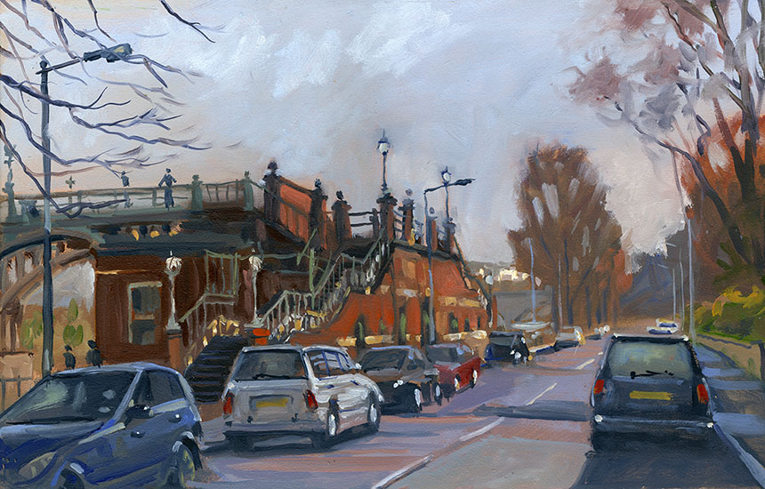 Whitstable, Thames, oil, plein air, brass monkeys