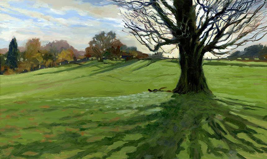 Westerham, kent, tree, plein air, oil painting
