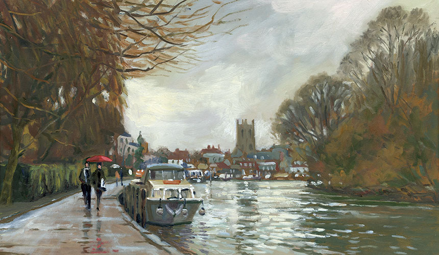 Henley upon Thames, river, plein air