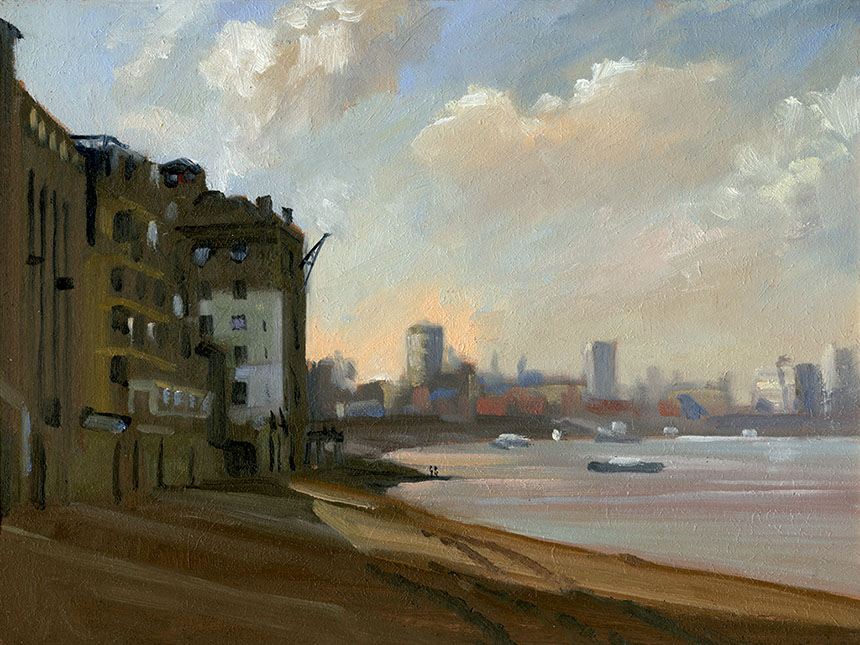 Rotherhithe, thames, london, river, city, plein air