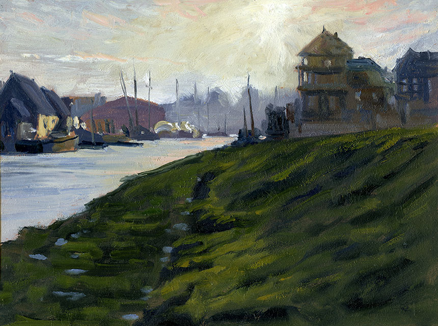 Faversham creek, oils, plein air, kent