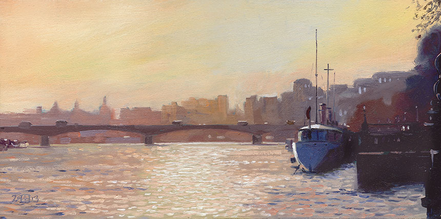 Thames, London, plein air