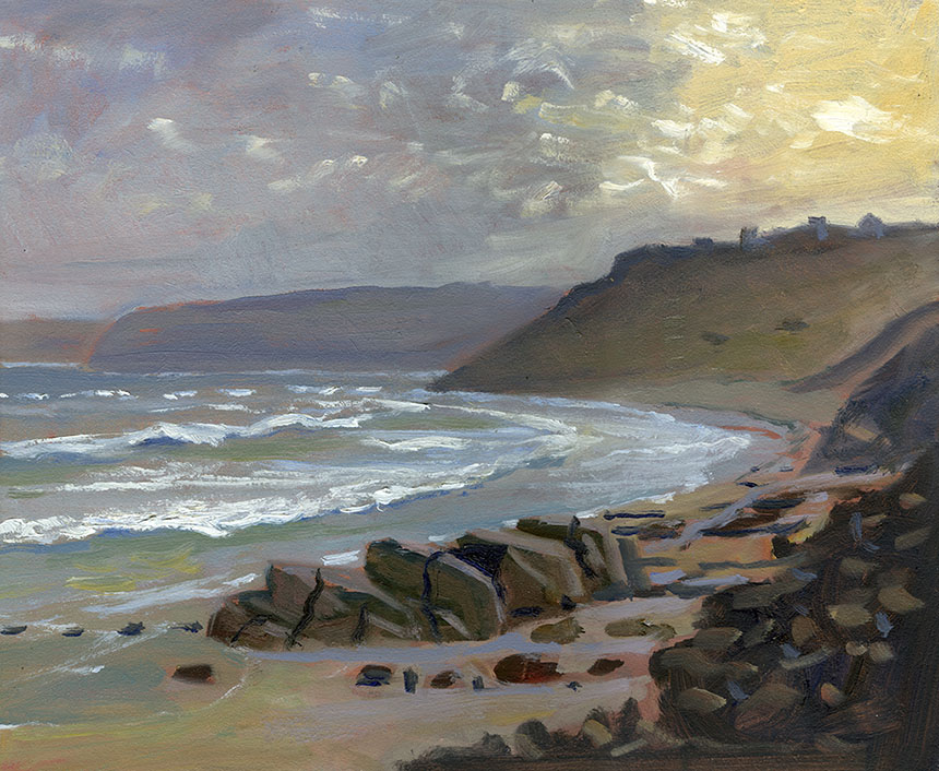 Sennen, Cornwall, sea, plein air, oil painting