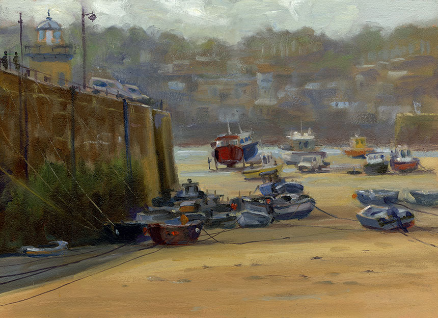 St Ives, Cornwall, plein air, oil painting