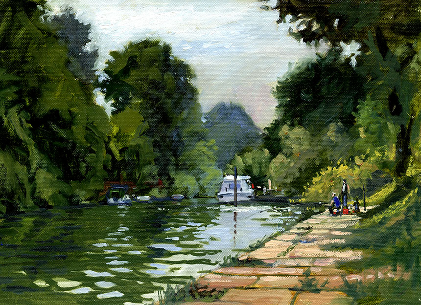 Sunbury, plein air, oils, Thames, river