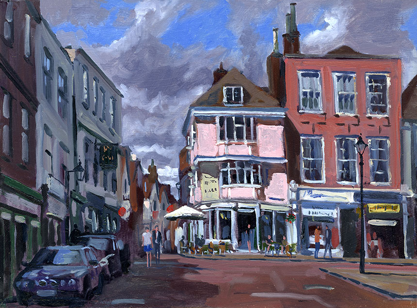Faversham, Kent, oil painting