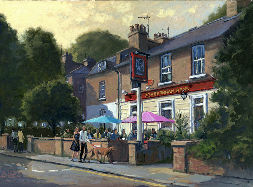 Ashburnham Arms, Greenwich, oils