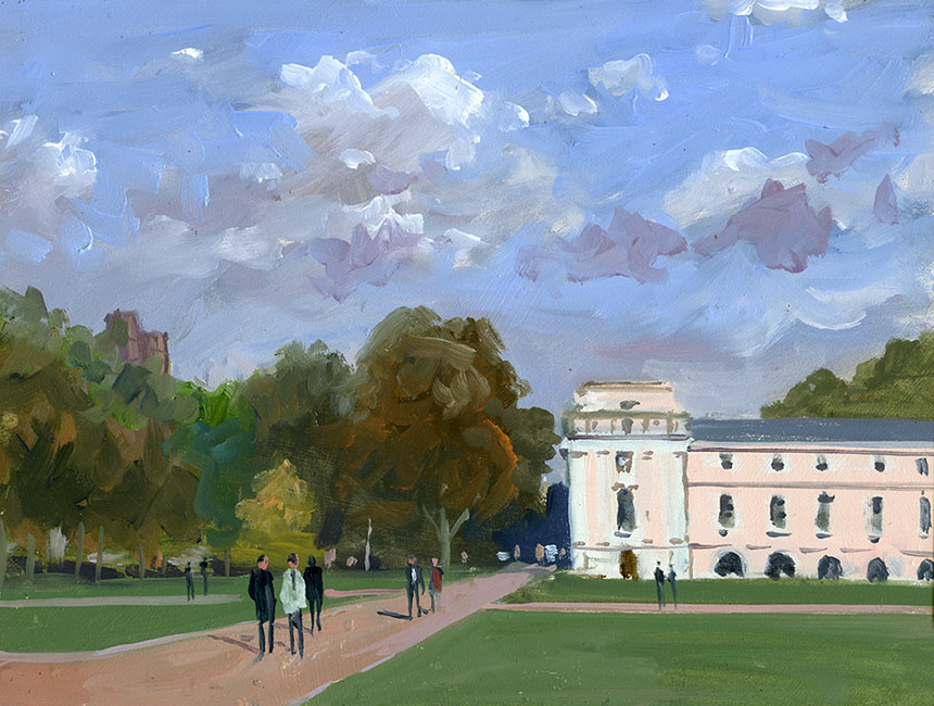 Greenwich, London, plein air, oil painting